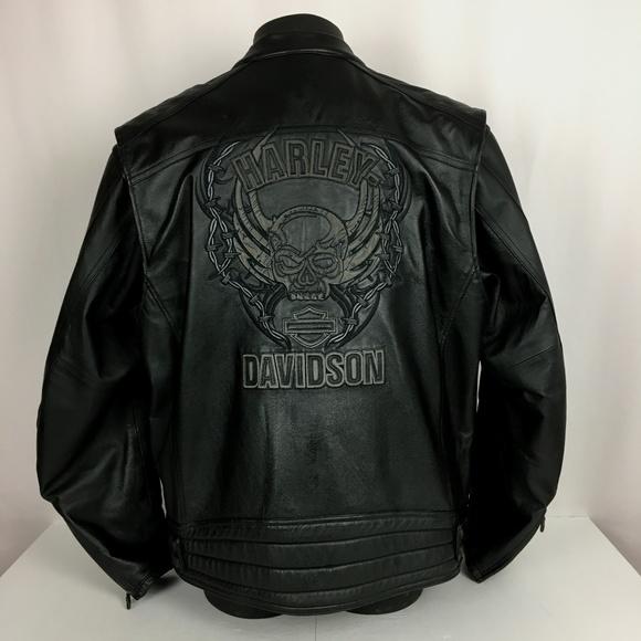 68dec4fd2 Harley-Davidson XL Leather Jacket Willy G Skull